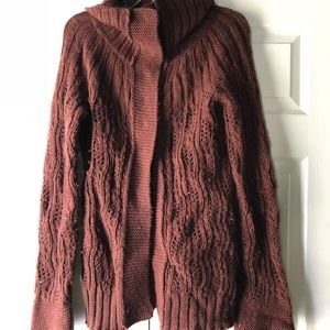 Free People brown wool cardigan S EUC